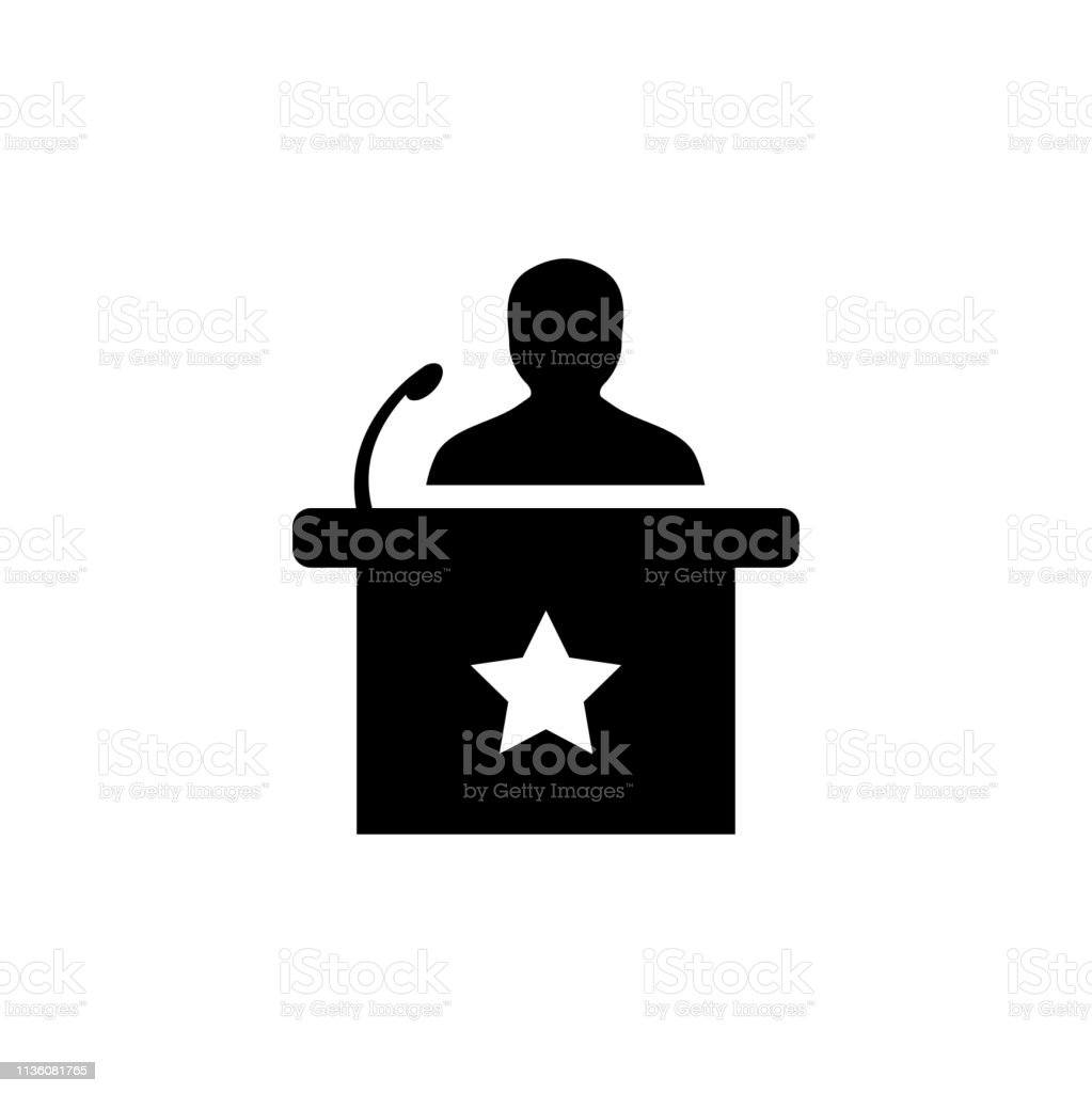Speaker Icon In Flat Style Vector Icon For Apps And Websites. Black...