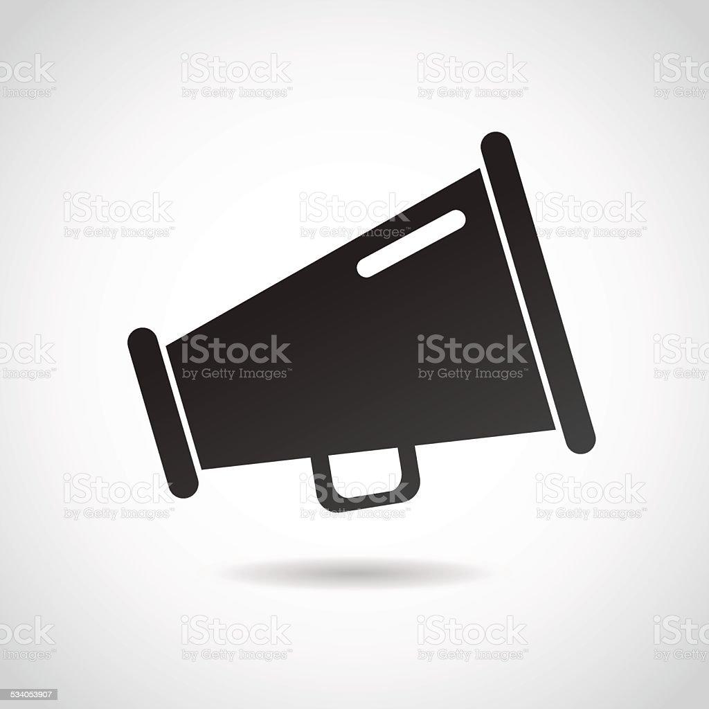 Speaker icon isolated on white background. vector art illustration