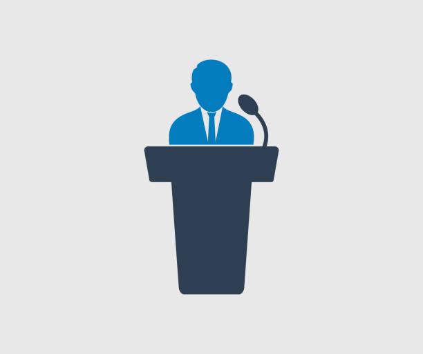 Speaker icon on gray background. Flat style Vector EPS. Speaker icon on gray background. Flat style Vector EPS. spokesperson stock illustrations