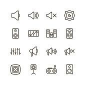 Speaker icon set