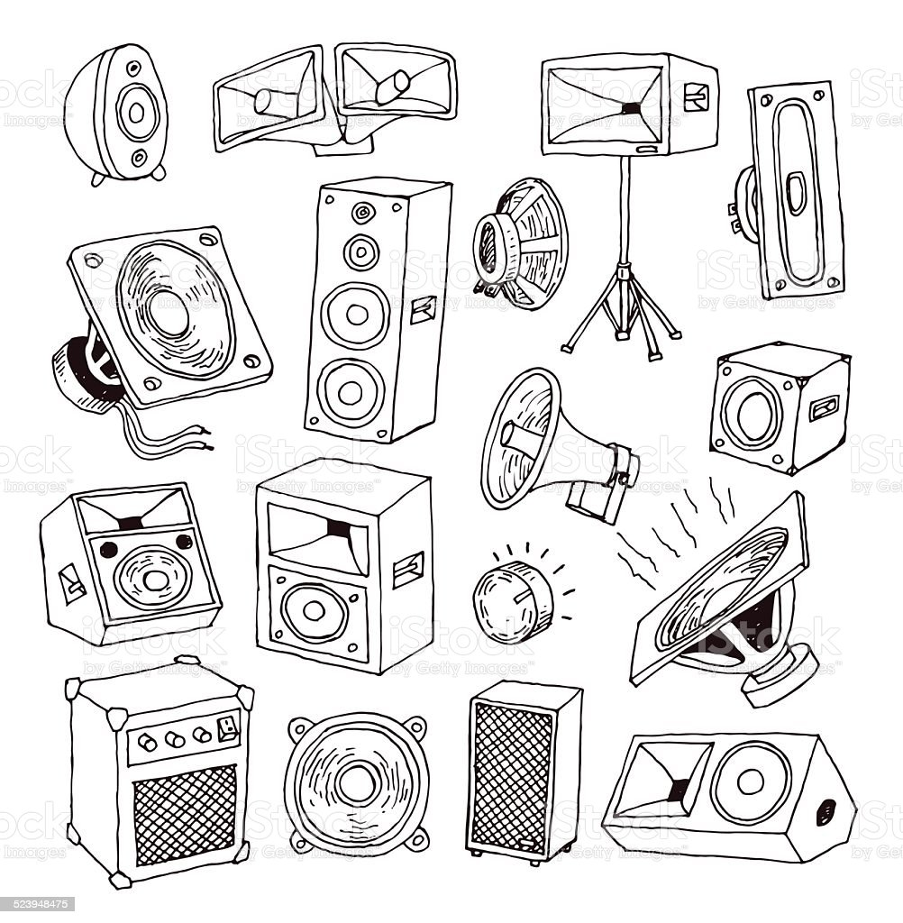 Speaker icon. Vector illustration. vector art illustration