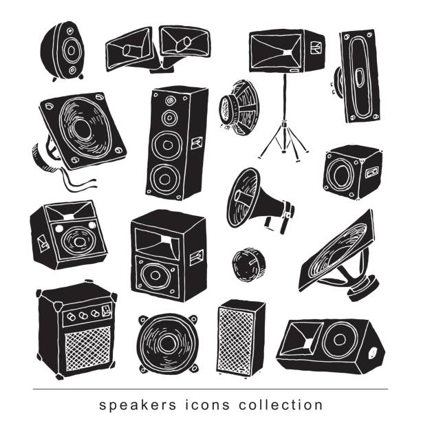 Speaker icon. Vector illustration. vector art illustration