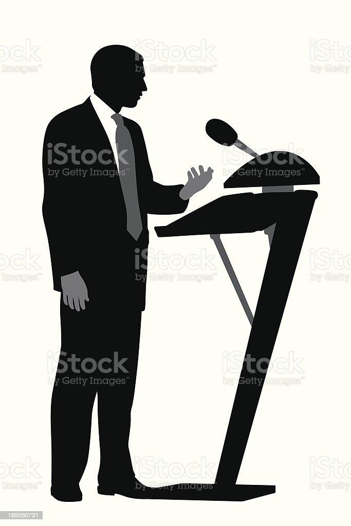 Speaker Icon Vector Silhouette vector art illustration