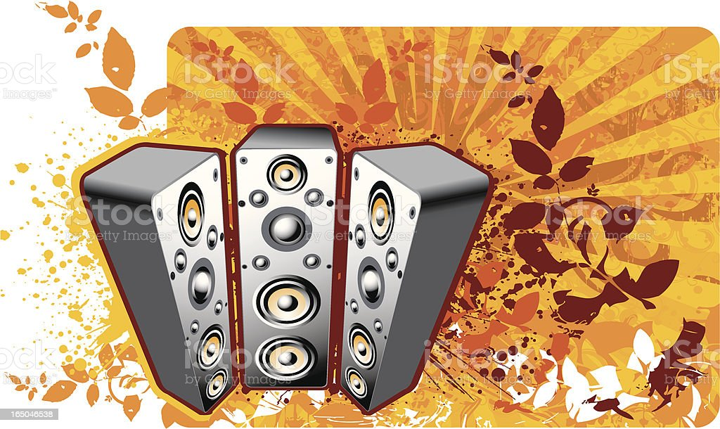 Speaker in Organic design royalty-free stock vector art