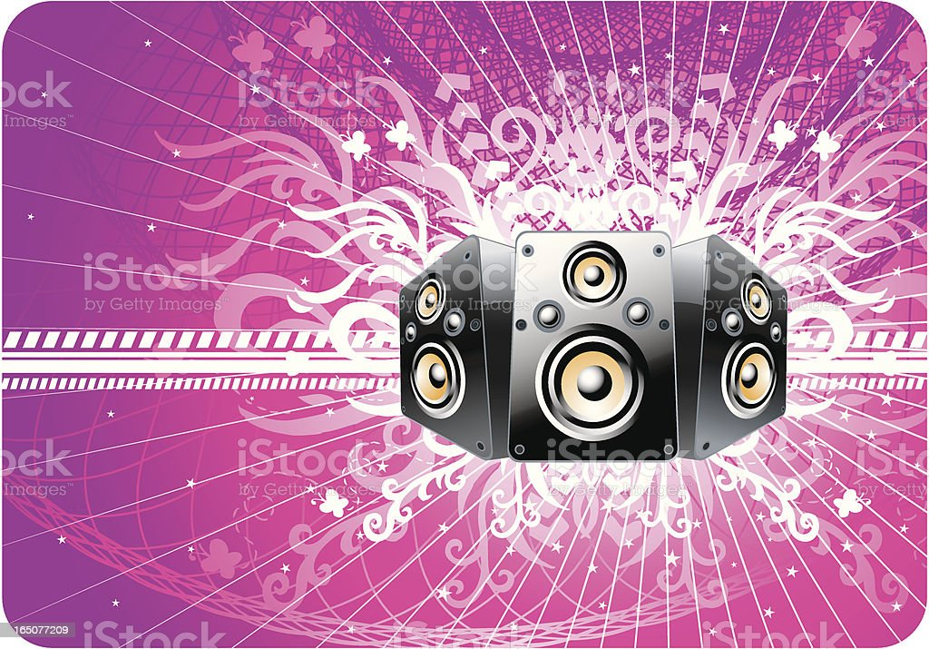 Speaker in retro design royalty-free stock vector art