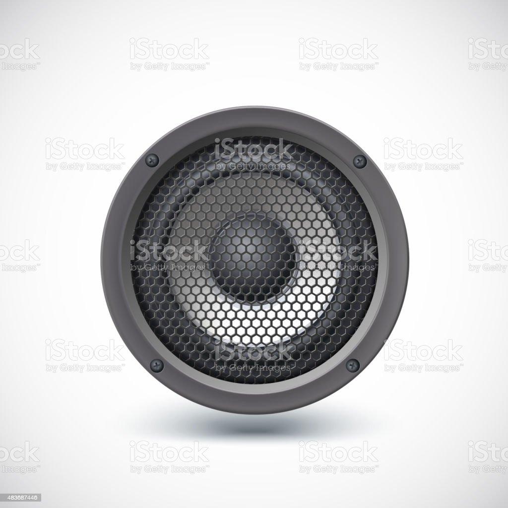 Speaker isolated. vector art illustration