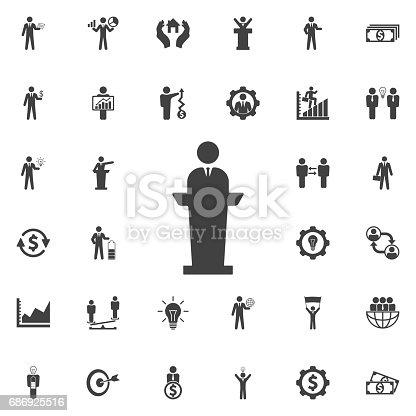 Speaker man Icon. Business icons set