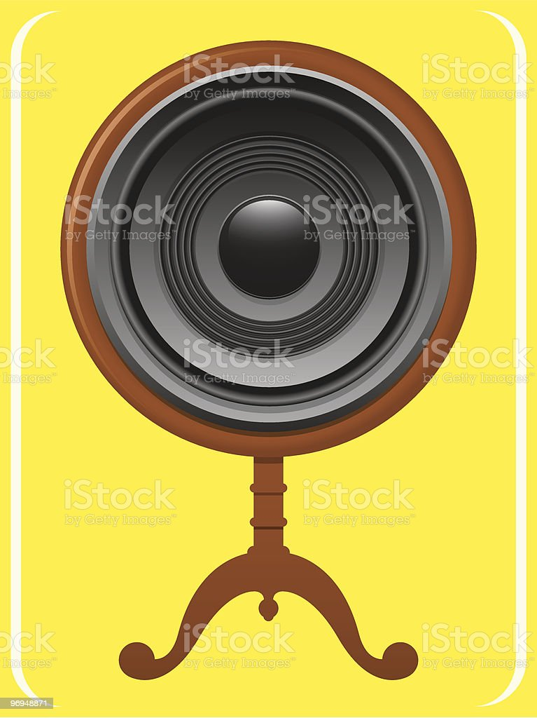 Speaker on wooden stand royalty-free speaker on wooden stand stock vector art & more images of audio equipment