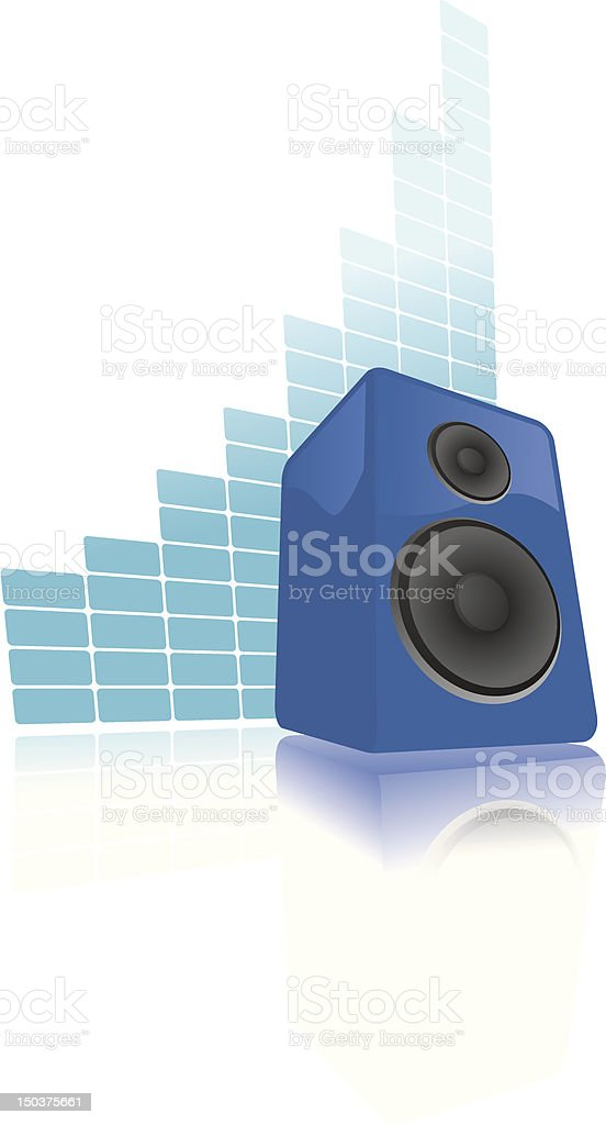 Speaker raising volume royalty-free stock vector art