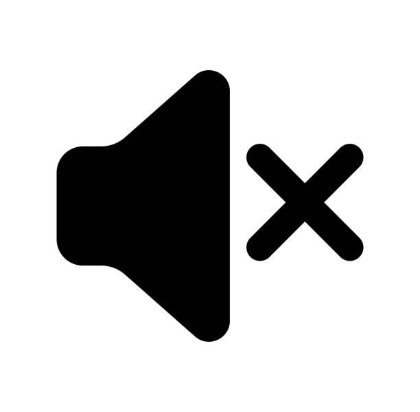 speaker / sound icon (off) vector art illustration