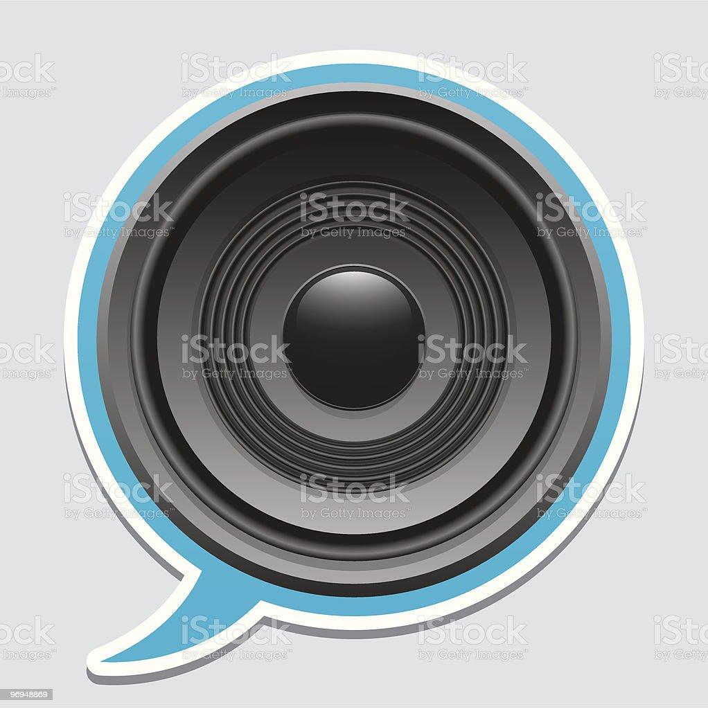 Speaker speech bubble royalty-free speaker speech bubble stock vector art & more images of black color