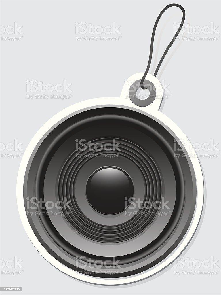 Speaker tag royalty-free speaker tag stock vector art & more images of black color