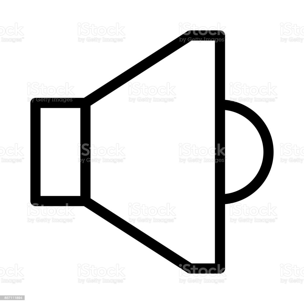 Speaker Thin Line Vector Icon