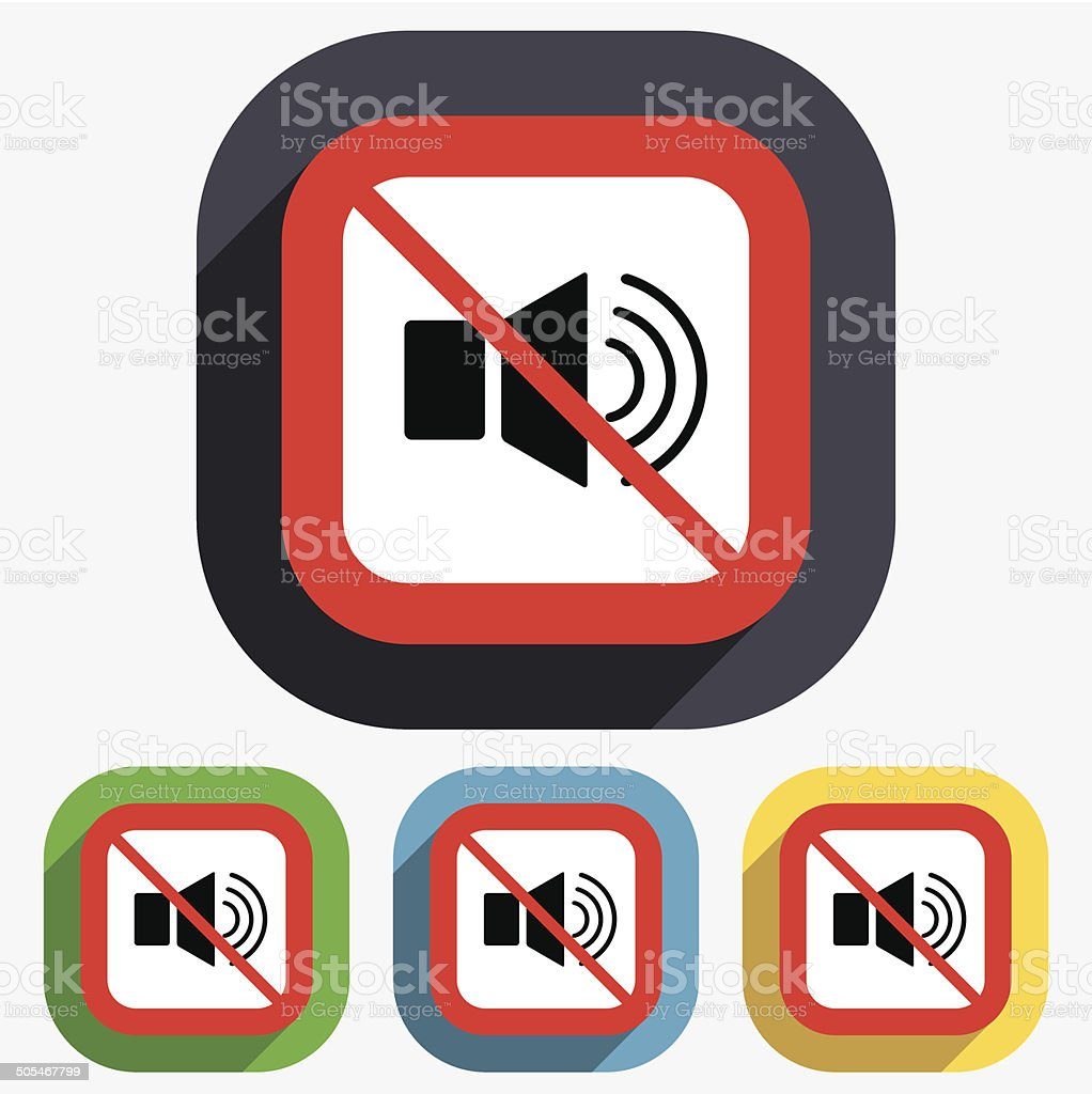 Speaker Volume Sign Icon No Sound Symbol Stock Vector Art