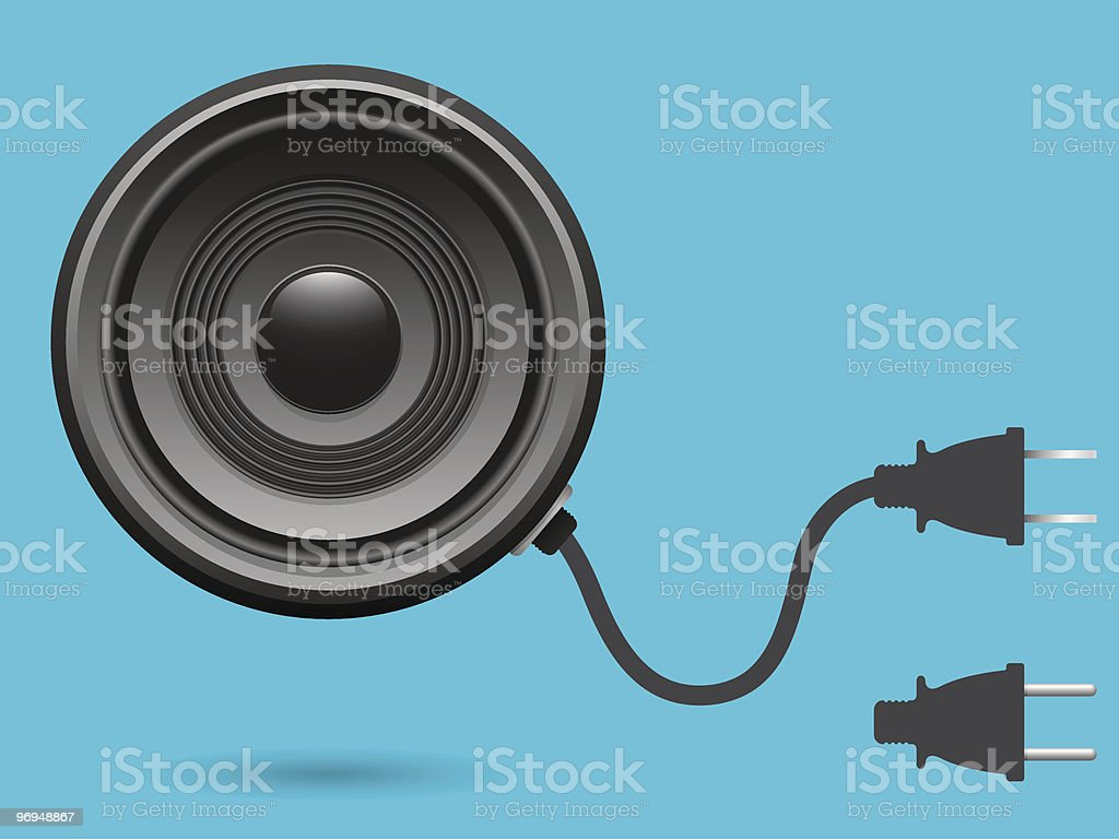 Speaker with electric plug royalty-free speaker with electric plug stock vector art & more images of audio equipment