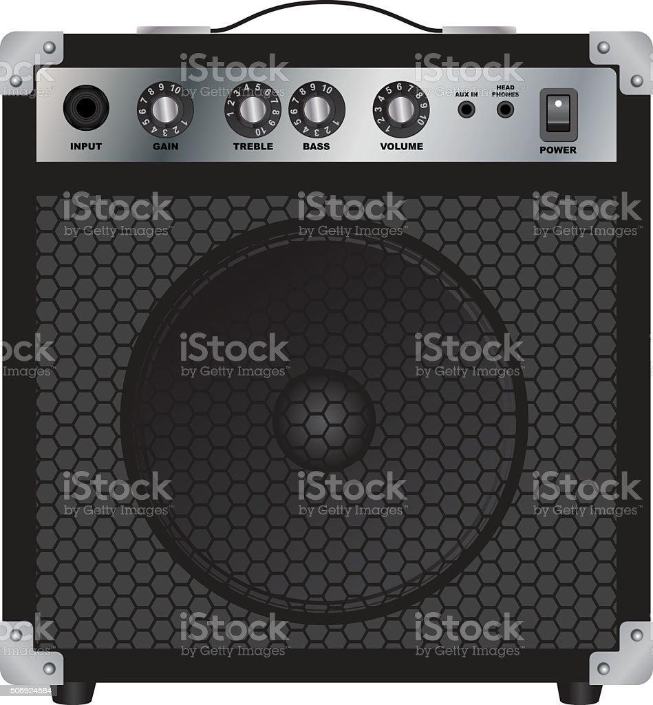 Speakers for Electric Guitar. Combo amplifier. Guitar amplifier. vector art illustration