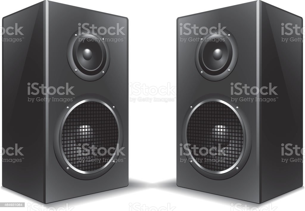 Speakers isolated on white vector