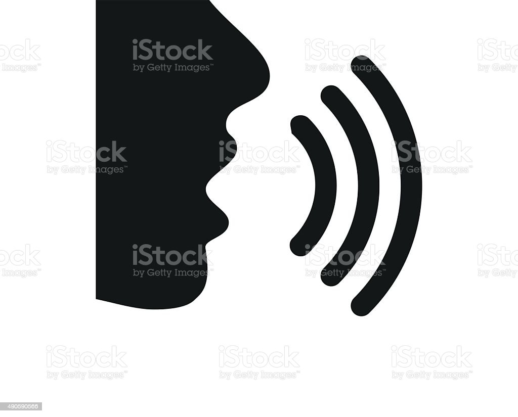 Speaking icon on a white background. - SingleSeries