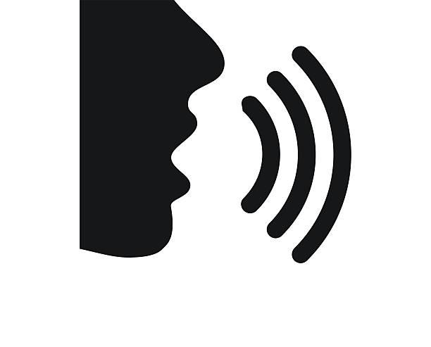 mówiąc ikona na białym tle. singleseries - język otwór gębowy stock illustrations