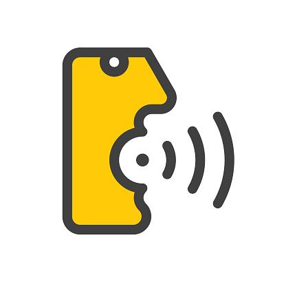 Speaking line icon