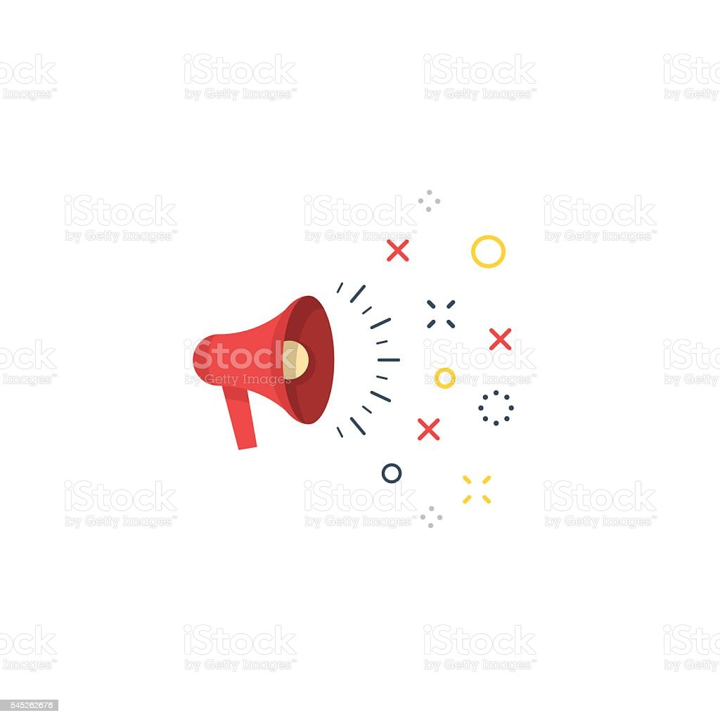 speaking megaphone concept public relation advertising and promotion