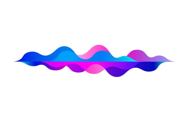 sprechenden schallwelle. bunte bewegung farbverlauf. rhythm.abstract vektor hintergrund. musik-audio-technologie-equalizer auf weißem hintergrund - sound wave grafiken stock-grafiken, -clipart, -cartoons und -symbole