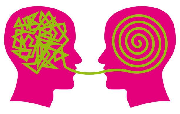 ilustraciones, imágenes clip art, dibujos animados e iconos de stock de hablando de terapia clip art - profesional de salud mental