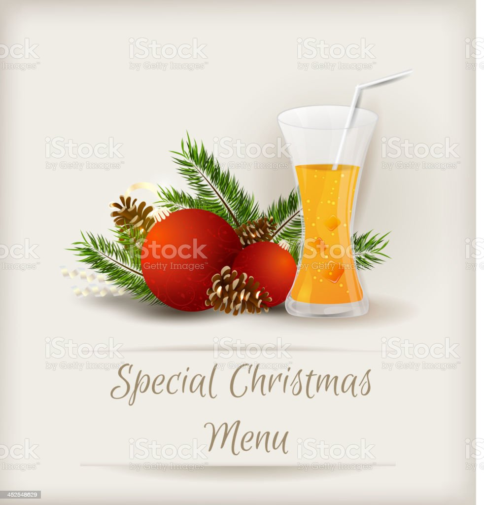 Special Christmas Menu Template Stock Vector Art More Images Of