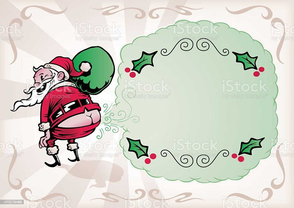 Special Christmas Message vector art illustration