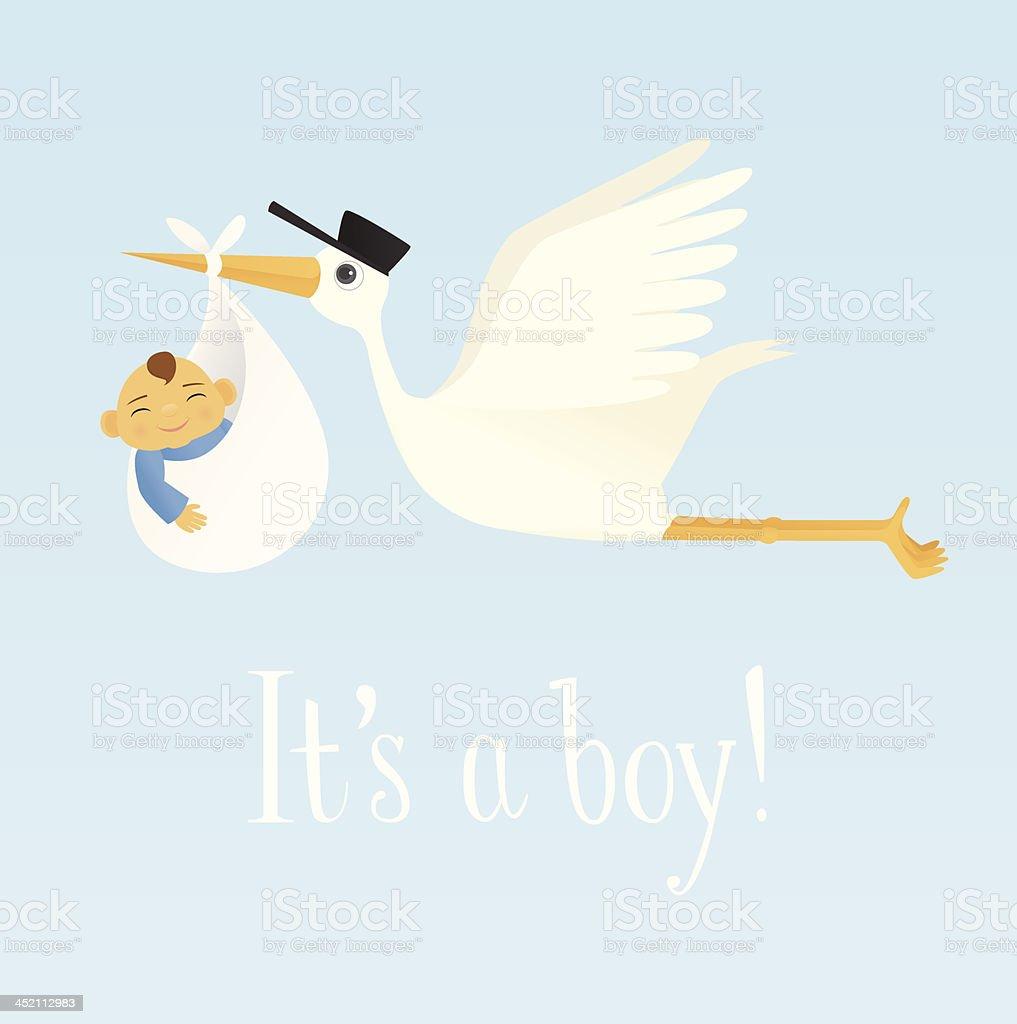 Special Delivery (Baby Boy) - Royalty-free Aankondigingsbericht vectorkunst