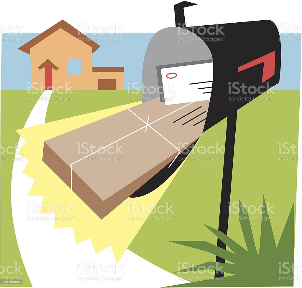 Special delivery royalty-free stock vector art