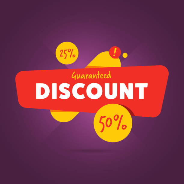 Special discount advertisement promo banner Special discount advertisement promo banner flat abstract isolated vector illustration commercial event stock illustrations