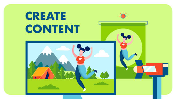 stockillustraties, clipart, cartoons en iconen met speciale effect studio platte vector illustratie - green screen