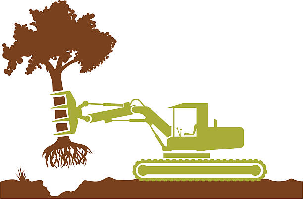 Royalty Free Tree Removal Clip Art, Vector Images ...