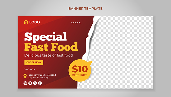 Special fast food banner template