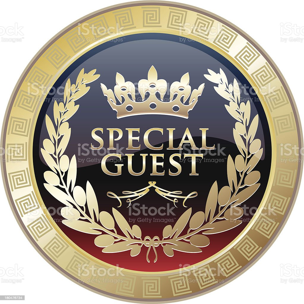 Special Guest Award Medal royalty-free stock vector art