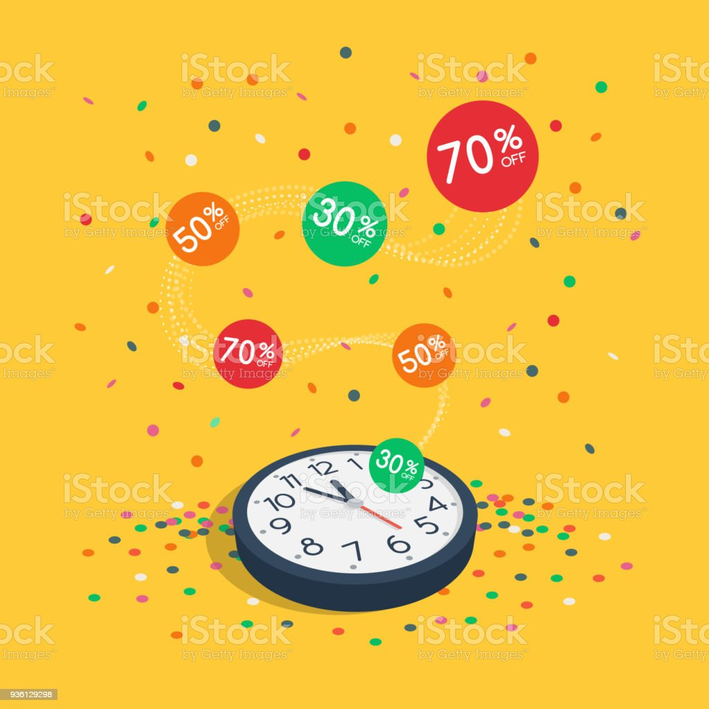 Special Limited Time Sale Symbol With Wall Watch Flying Colorful ...