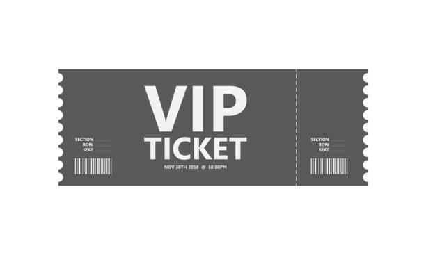특별 한 영화 티켓, 벡터 디자인, eps10 - 티켓 스텁 stock illustrations