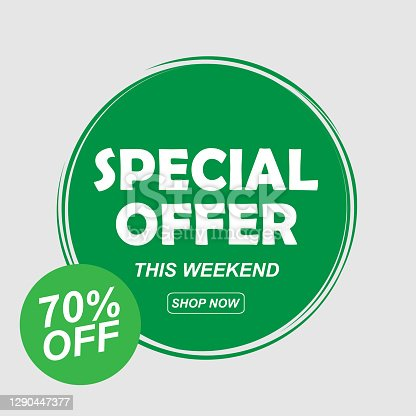 istock special offer 70% off green colors vector 1290447377