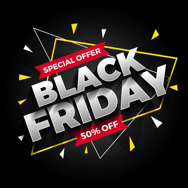 Special offer black Friday sale banner background. Vector illustration Special offer black Friday sale banner background. Vector illustration black friday sale stock illustrations