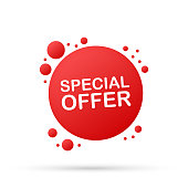 Special offer. Color tag discount sale icon. Element of discount tag. Premium quality graphic design icon. Vector stock illustration.