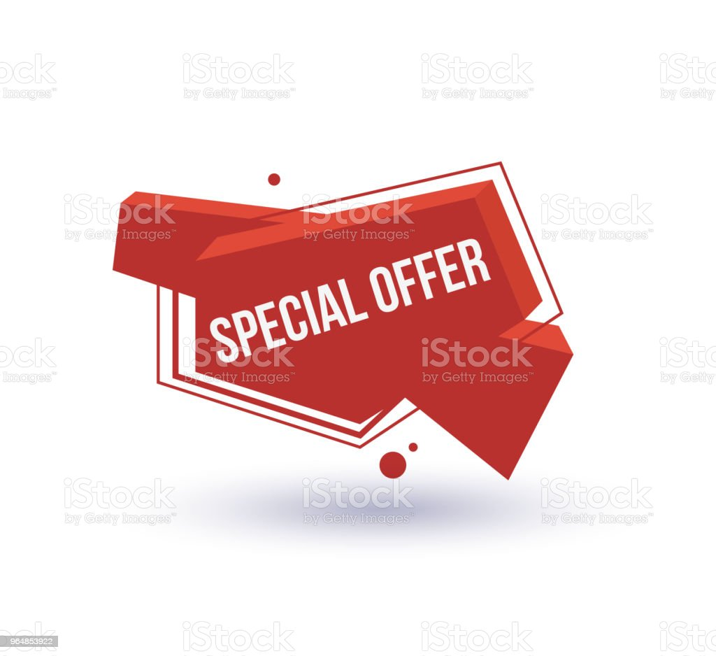 Special offer isolated trendy geometric label royalty-free special offer isolated trendy geometric label stock vector art & more images of advertisement