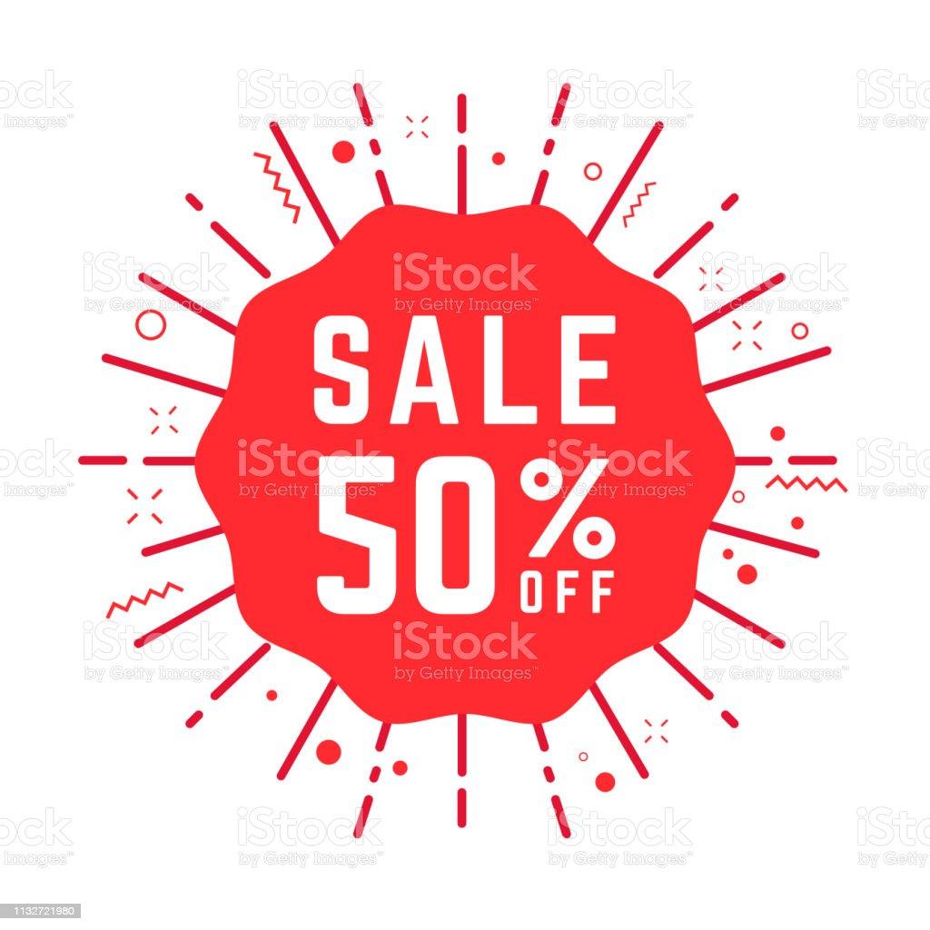 4a30f9c2a37b4 Özel Teklif satış 50% kırmızı etiket kapalı. Indirim teklif fiyat etiketi,  perakende reklam