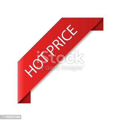 special offer sale promo marketing black friday holiday shopping concept red hot price discount sticker symbol for advertising campaign in retail vector illustration