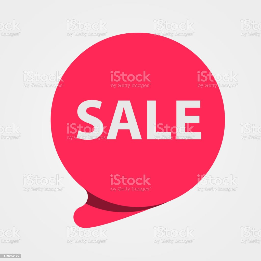 Special offer sale red tag. Discount, offer price label, symbol for advertising campaign. Sale sticker. vector art illustration