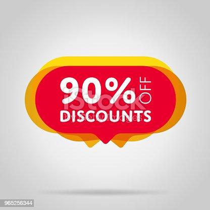 Special Offer Sale Red Tag Isolated - Stockowe grafiki wektorowe i więcej obrazów Balon 965256344