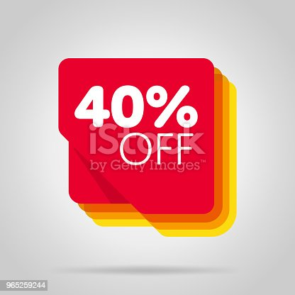 Special Offer Sale Red Tag Isolated Stock Vector Art & More Images of Advertisement 965259244