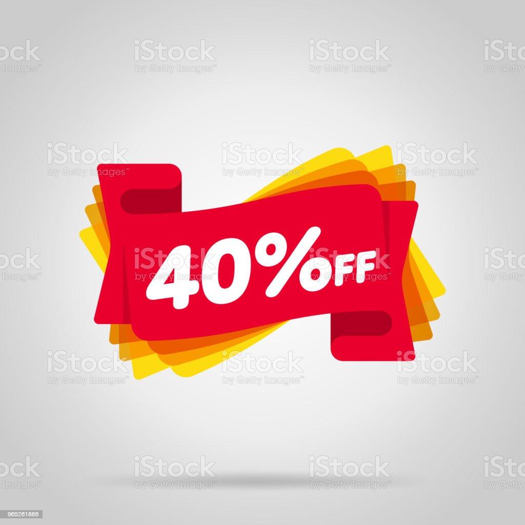 Special offer sale red tag isolated - Grafika wektorowa royalty-free (Balon)