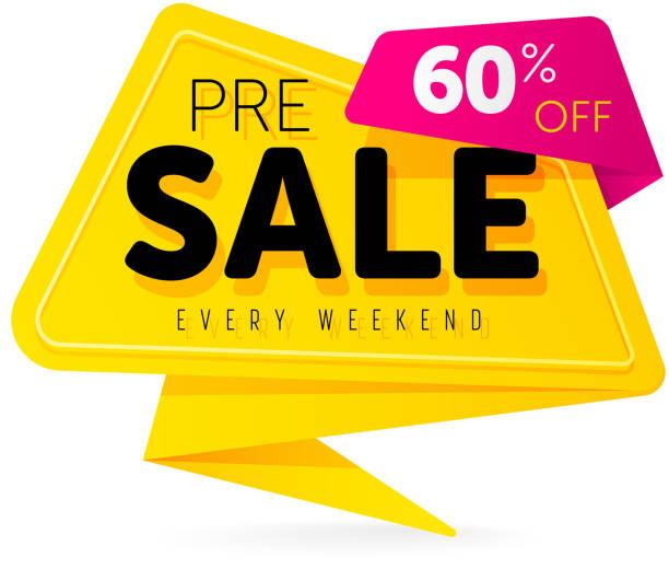 Offre spéciale vente tag discount symbole détail autocollant - Illustration vectorielle