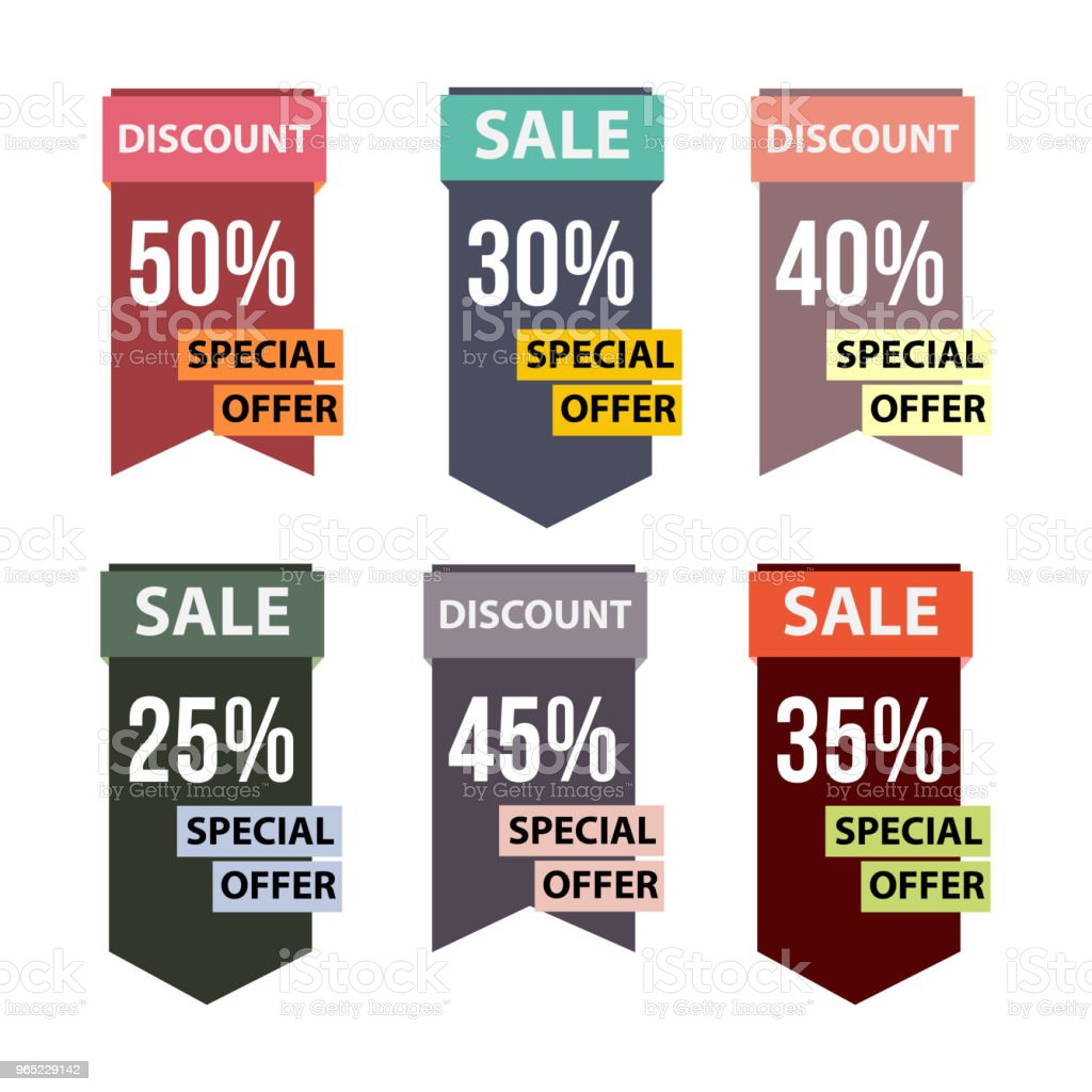 Special Offer Set Vector Template Design royalty-free special offer set vector template design stock vector art & more images of 2015
